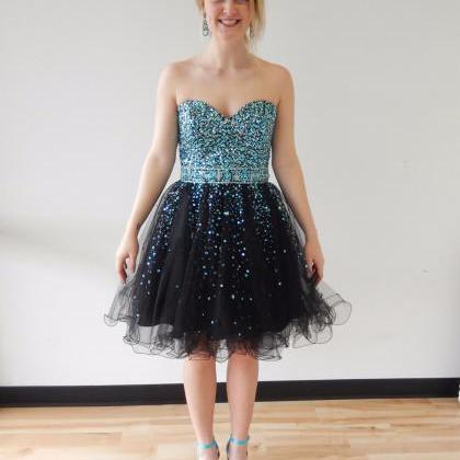 Short Tulle Homecoming Dresses Crys..