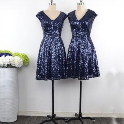 Sequin Bridesmaid Dress,Short Bride..