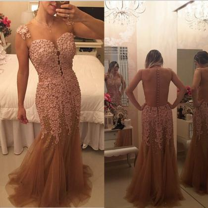 Backless Prom Dresses,Vintage Prom ..