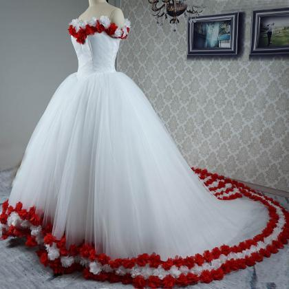 flower wedding dress, bridal dresse..