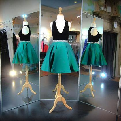Homecoming Dresses, Green Prom Dres..