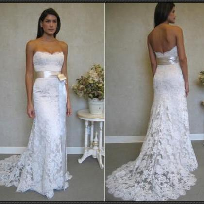 Backless Mermaid Wedding Dresses,La..