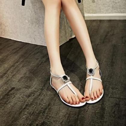 Flip Flops Women Fashion Leather Rh..