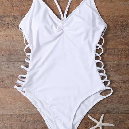 Cutout High Cut One-Piece Swimwear ..