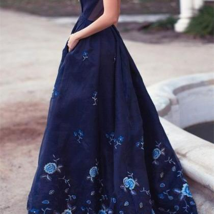 Cheap prom dresses 2017,Plunging Ne..