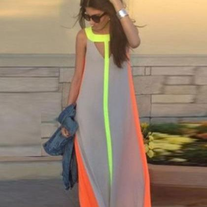 Women's Summer Boho Long Maxi Dress..
