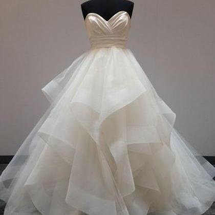 Strapless Sweetheart Ruched Ruffle ..