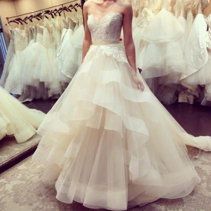 Sexy tulle Wedding Dresses,Sweethea..