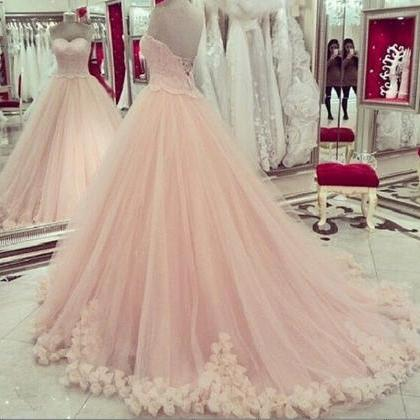 Romantic Pink Prom Pageant Dresses ..