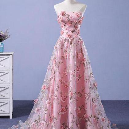 Pink Prom Dresses A-line Sweetheart..