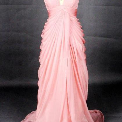 Elegant Peach Pink Sweetheart Long ..