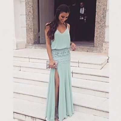 Cheap prom dresses 2017,Charming Prom Dress,Split Prom Dress,Fashion Prom Dress,Sexy Party Dress,Custom Made Evening Dress