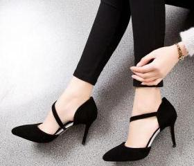 Suede Pointed-Toe As..