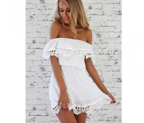 lace white Dress sty..