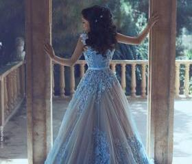 Tulle Ball Gown Prom..