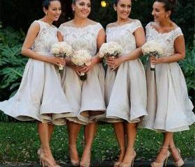 lace short bridesmai..