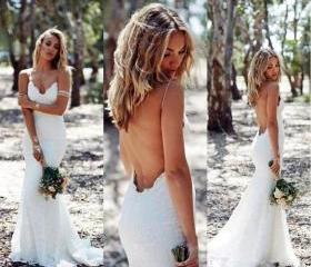 Sexy Backless Lace W..