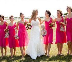Hot Pink Bridesmaid ..