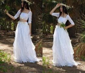 2 Piece Wedding Dres..
