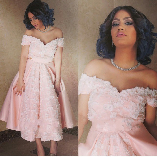 Knee Length Prom Dress Pink Off The Shoulder Graduation Party Lace Homecoming Dresses Gowns
