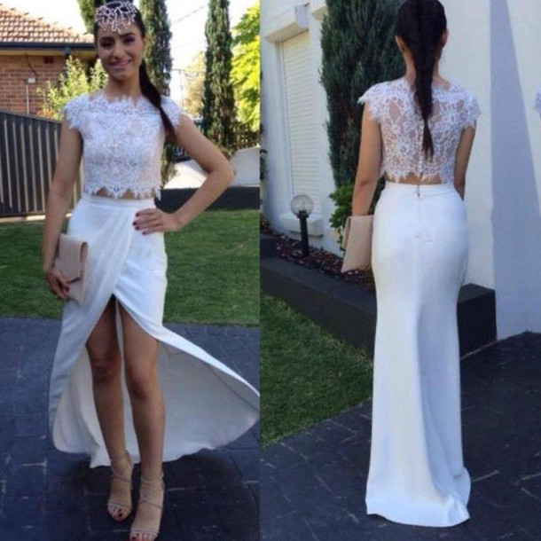 355b0a40ad0 2 Piece Prom Gown