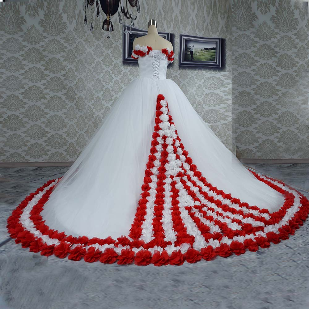 ab2ce061022 Flower Wedding Dress