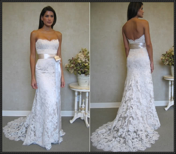 Backless Mermaid Wedding Dresses,Lace Prom Dress,Fashion Bridal Dress,Sexy Party Dress,Custom Made Evening Dress