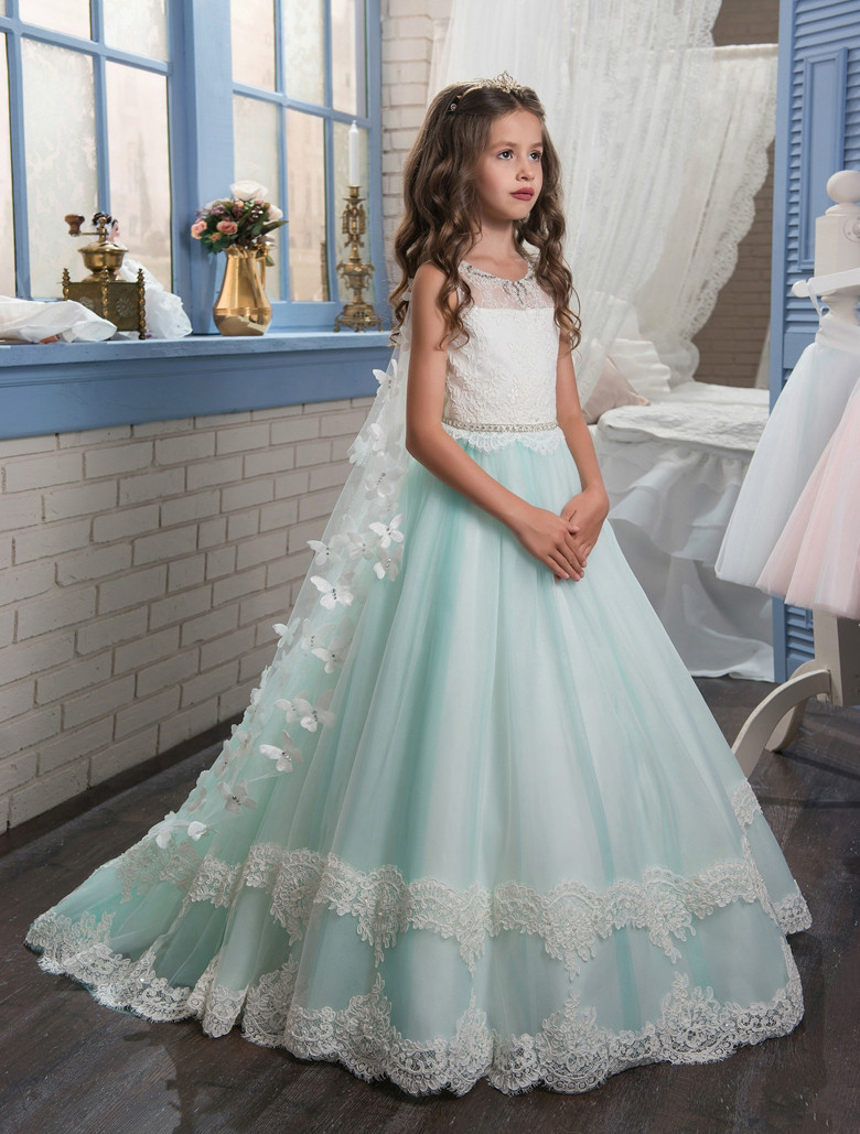 Flower Girl Dresses.2017 New Princess Puffy Ball Gown Pageant ...