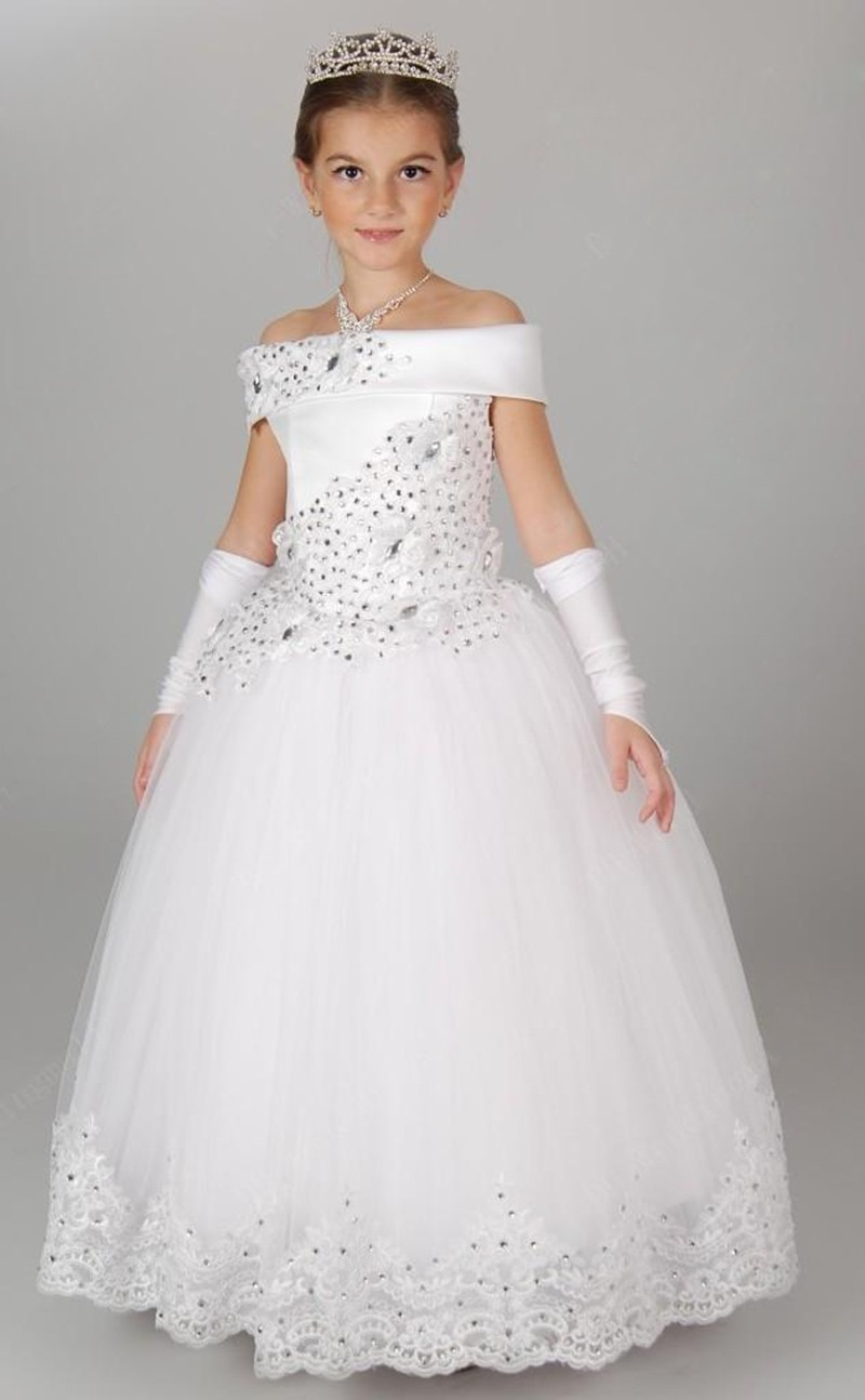 Off the shoulder white princess flower girl dresses princess ball off the shoulder white princess flower girl dresses princess ball gown girls pageant dresses flower girl dresses girls wedding party dresses mightylinksfo