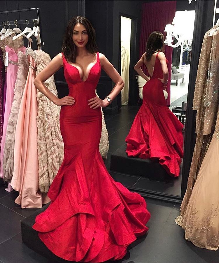 559d75683fdc Cheap prom dresses 2017 ,Red Prom Dress Gown Long Cheap,Mermaid Prom Dress,Sexy  Backless Prom Dress,Evening Dress,Formal Dress,Cocktail Dress,Party Dress  ...