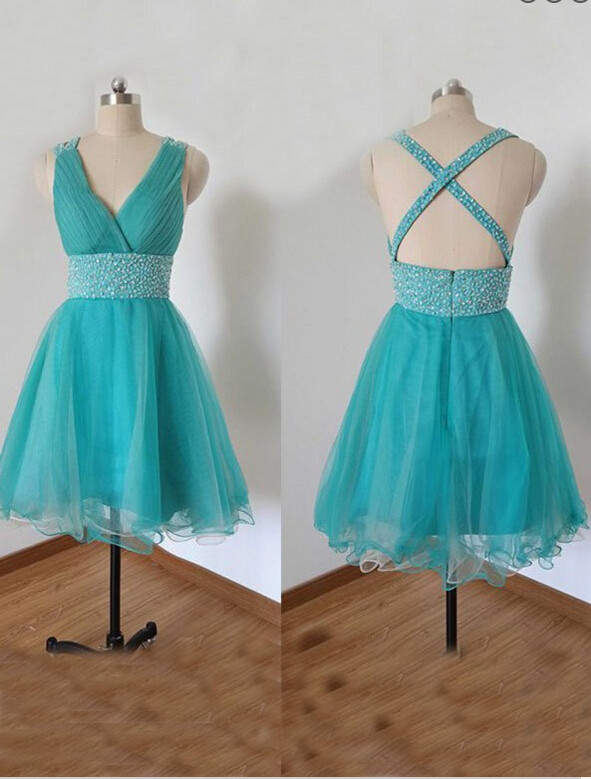 Cheap homecoming dresses 2017,Homecoming dress,Sexy bule tulle Homecoming Dress Graduation Party Dress For Prom