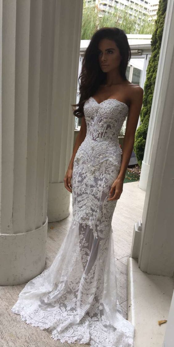 Cheap Wedding Dresses 2017charming White Lace Wedding Dresssexy