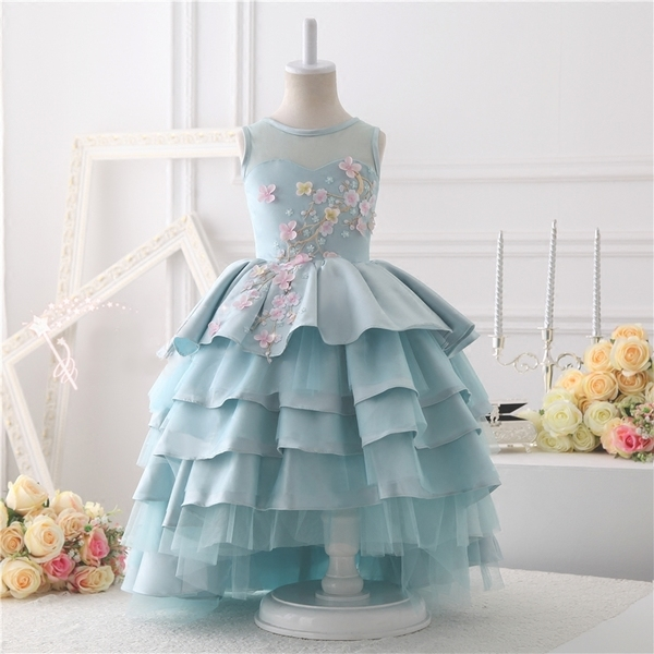 8646bb1742 Baby Blue Flower Girl Gown