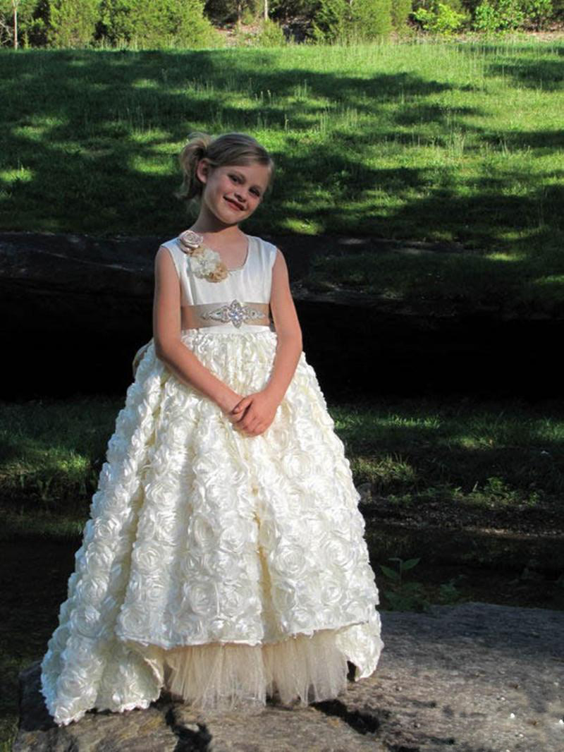2f226565a0e9 Gorgeous Girls Pageant Dress With Crystals Sash Flower Girl Dresses ...