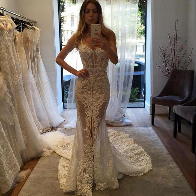Cheap Wedding Dresses 2017sexy Sweetheart Court Train Illusion