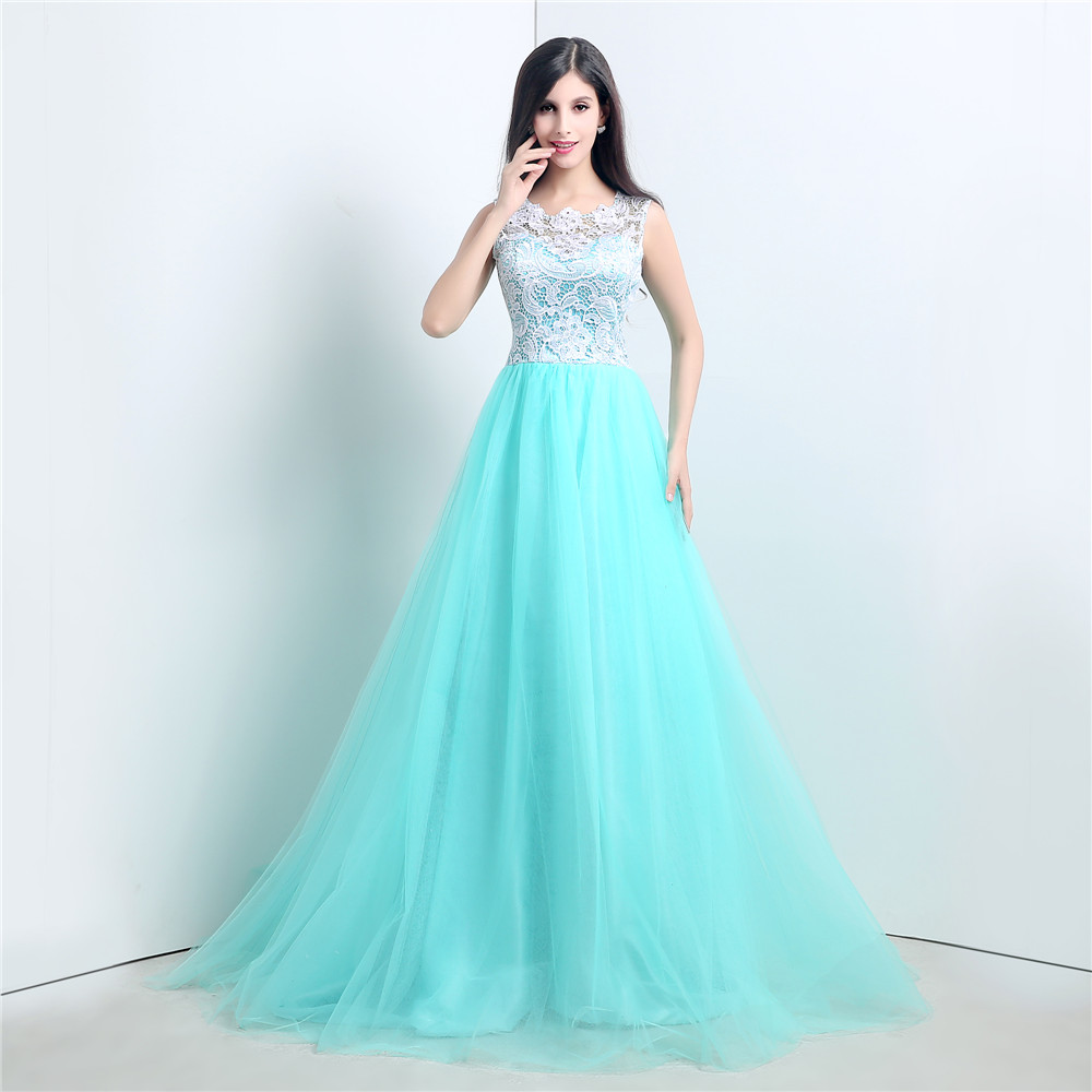 Cheap Prom Dresses 2017,Tiffany Blue Lace Bridesmaid Dress ...