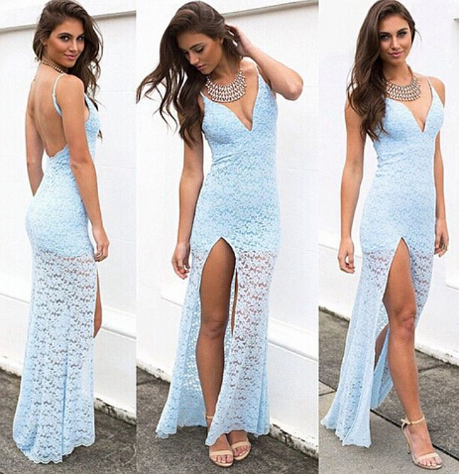 66b561dc8a Sell Now Sexy Womens Summer Boho Long Maxi Evening Party Dress Beach Dress  Lace Dress