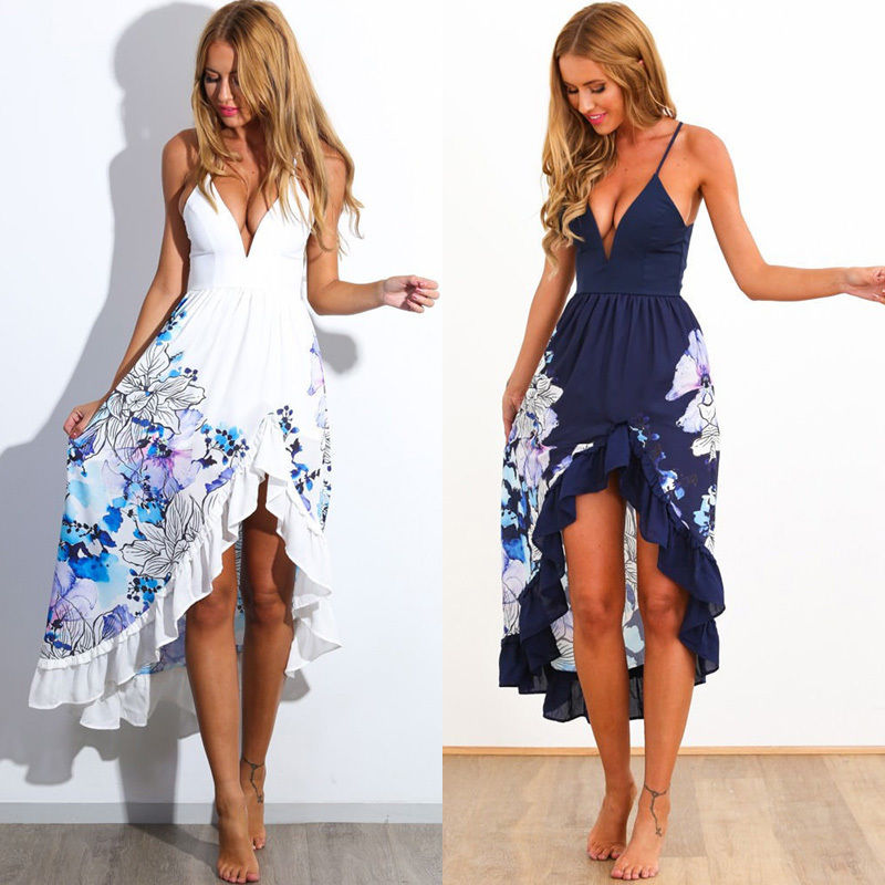 bc7b5f169f Sexy Women Summer Boho Long Maxi Evening Party Dress Beach Dresses Sundress