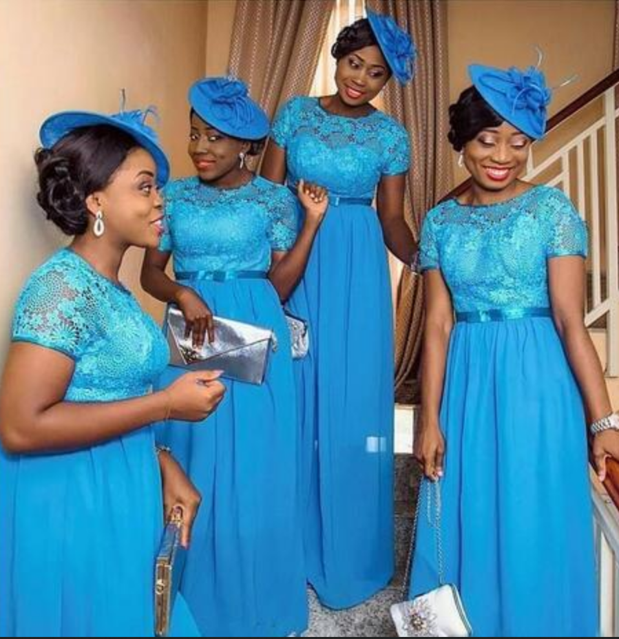 Hot Sale Nigerian African Bridesmaid Dresses