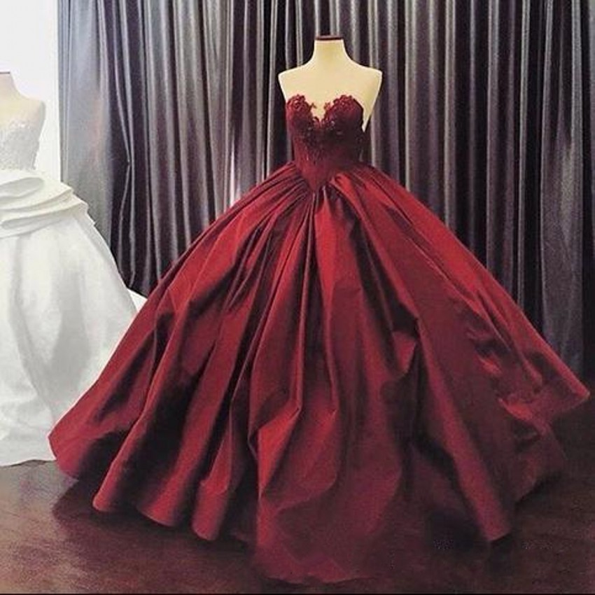 7154ebba6 Burgundy Quinceanera Dresses 2017