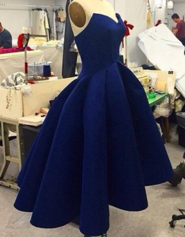 Royal Blue High Low Prom Dresses
