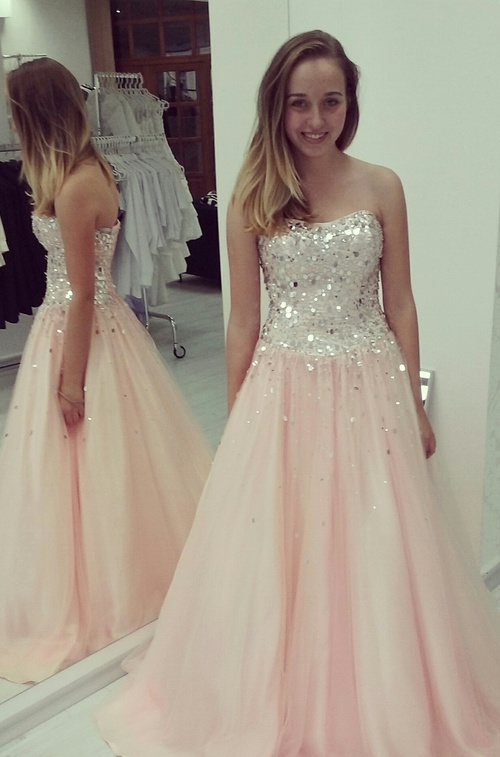 0be3042aa853a High Quality Prom Dress A-Line Prom Dress Chiffon HOMECOMING Dress  Strapless EVENING Dress Sequined