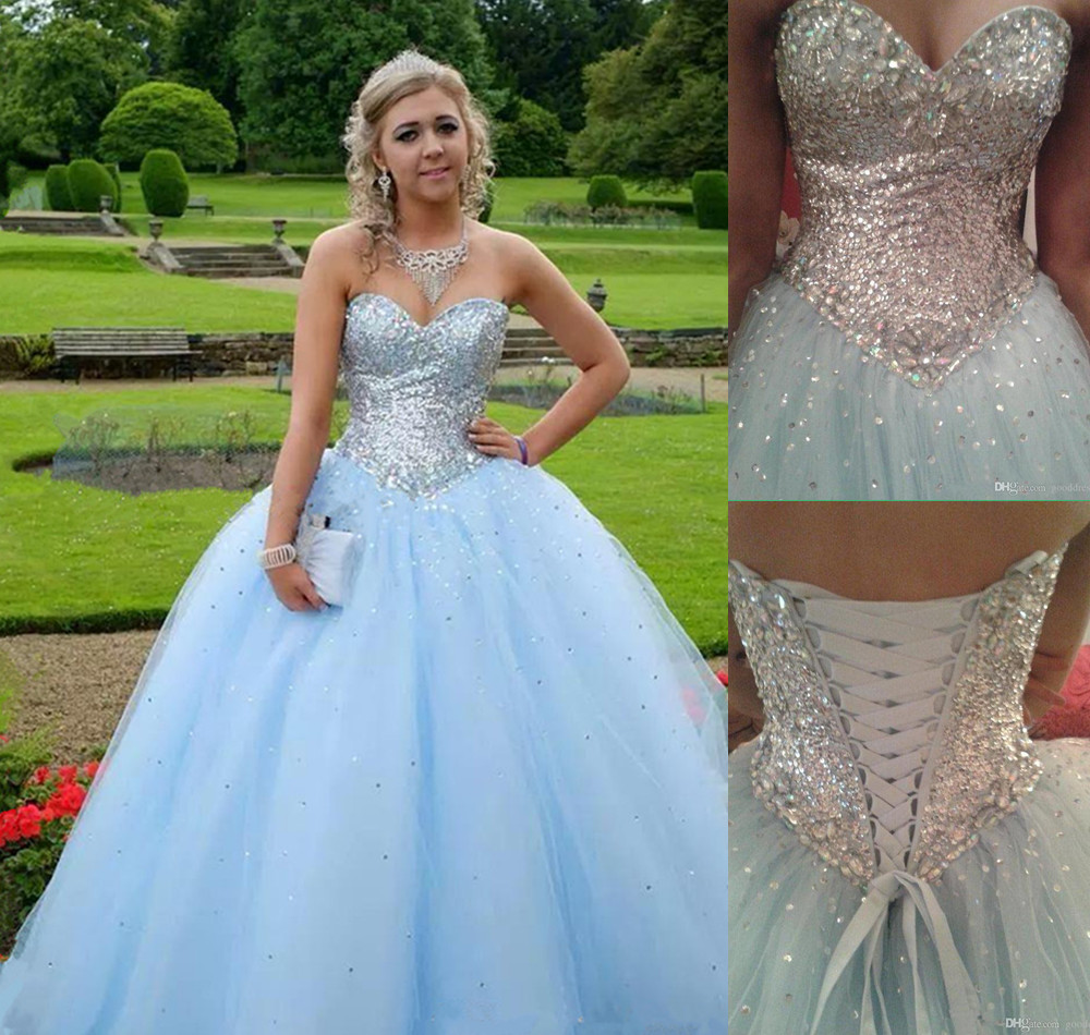 bc22d46a974 Light Blue Prom Dress