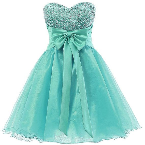 Cute Mint Green Short Prom Dress With Beadings, Cute Homecoming ...