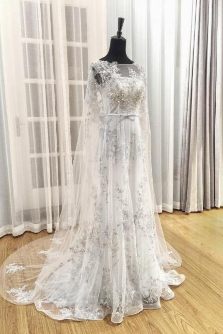 Gray Wedding Dress,Wedding Dresses,Wedding Dress,Wedding Gown,Bridal Gown,Bride Dresses, Luxury Wedding Dress,Lace Wedding Dress,Appliqued Wedding Gown,A-line Bridal Dress,Sequins Wedding Gown,Backless Bride Dresses,