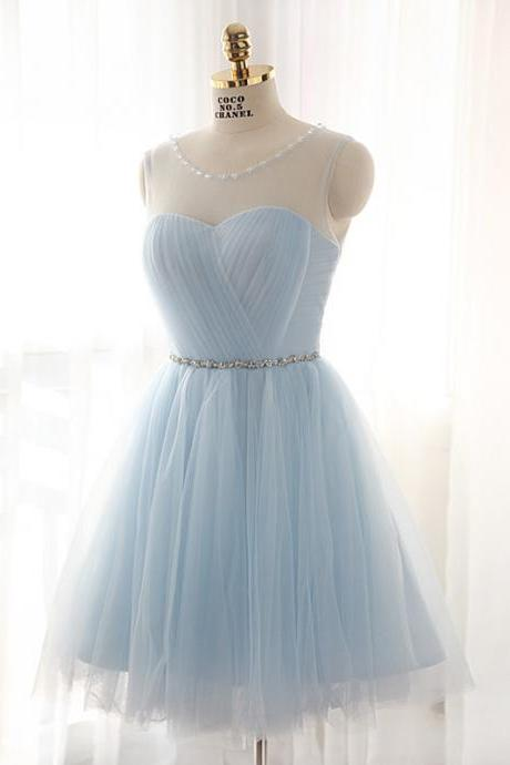 Homecoming Dress,Homecoming Dresses,Light Blue Graduation Dress,Lovely Cute Prom Dress