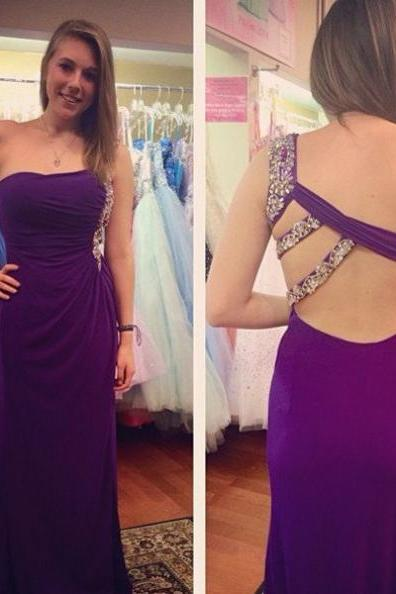 Ruching Backless Sheath Stretch Satin Prom Dresses 2017