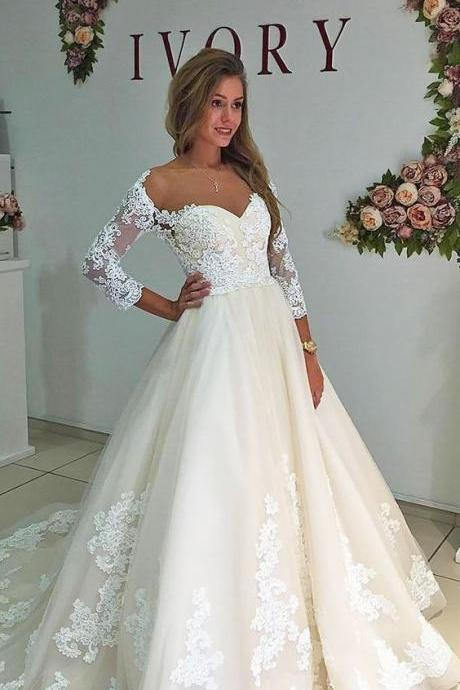 Mirusponsa Three Quaters Wedding Dresses, Wedding Dress Online, Wedding Dresses, Wedding Dress 2017, Robe De Mariage, Wedding Dresses Turkey, China Bridal Gowns,Trouwjurk, Cheap Wedding Dress, Wedding Gowns, Vestido De Noiva Curto