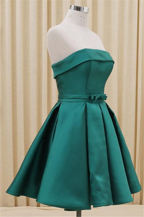 Homecoming Dress,Satin Homecoming Dresses,Short Prom Dress,Strapless Evening Dress,Summer Prom Dress,Simple Homecoming Gowns,Fitted Evening Gowns