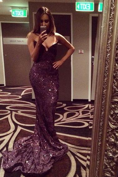 Black Prom Dresses,Mermaid Prom Dress,Sequined Prom Dress,Sequins Prom Dresses,Party Dress,Sequins Prom Gown For Teens